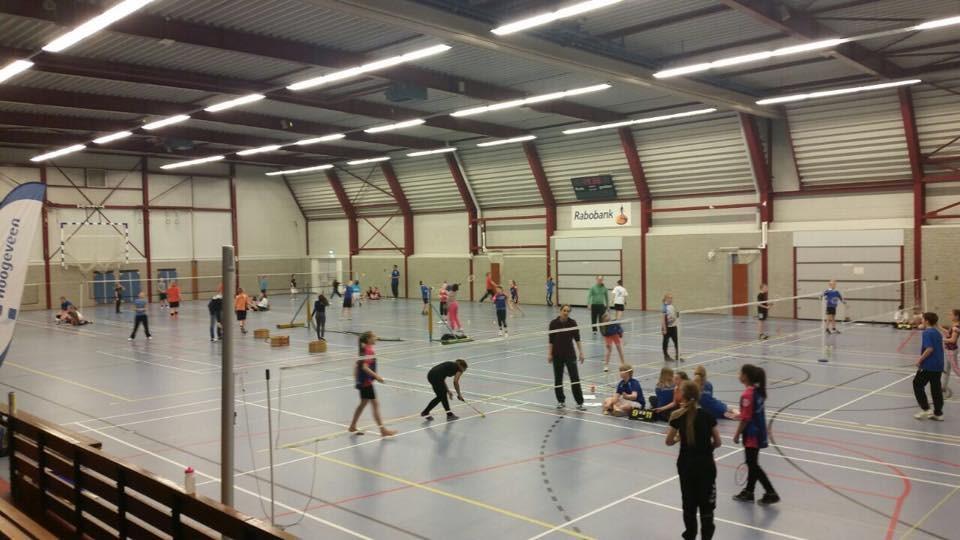 achter voor opstelling badminton